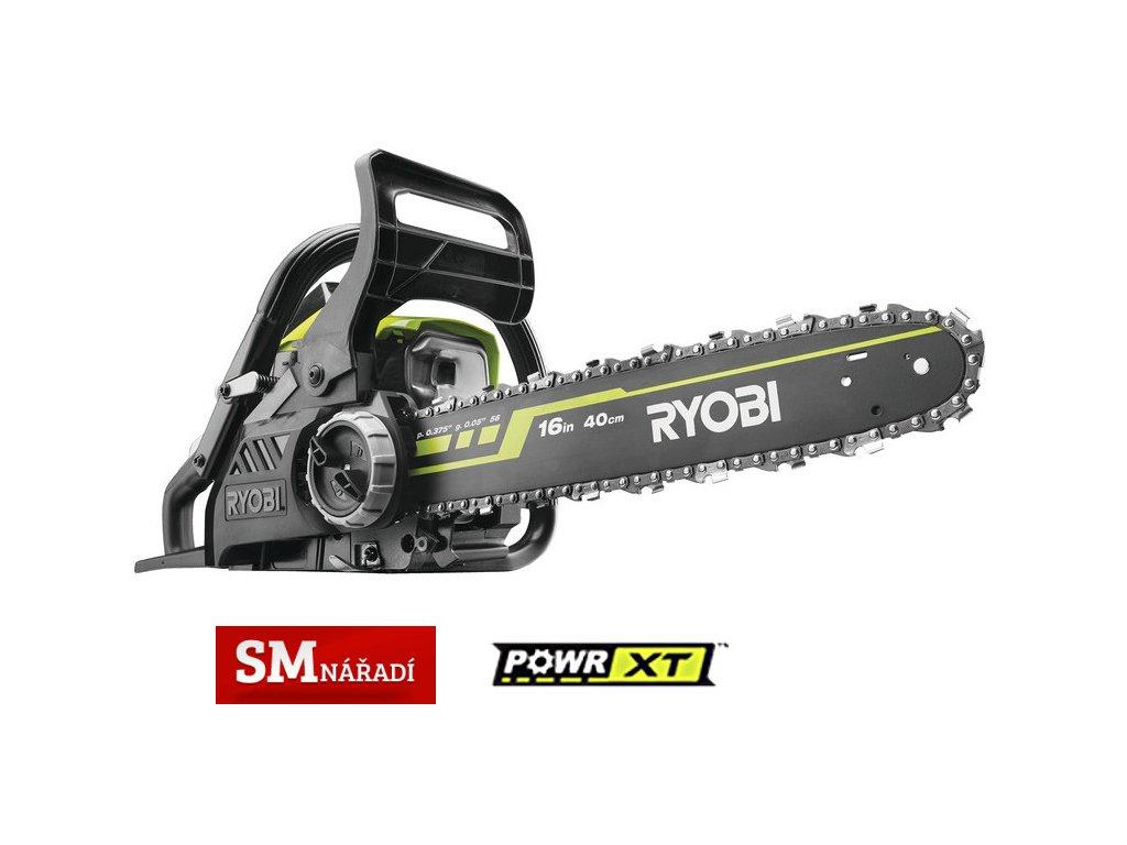 Ryobi RCS 3840 T Benzínová řetězová pila 37m3, 400mm