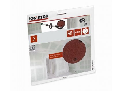 Kreator KRT232007 Brusný kotouč na sádrokarton 225 mm G150, 5ks
