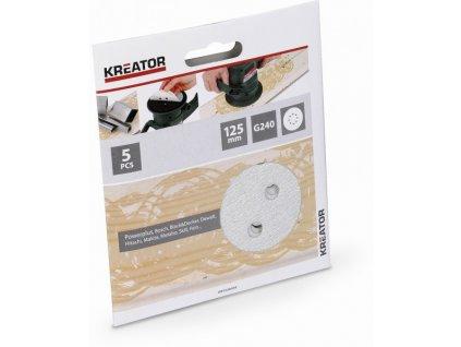 Kreator KRT230559 5x Brusný papír 125 mm na barvu G240