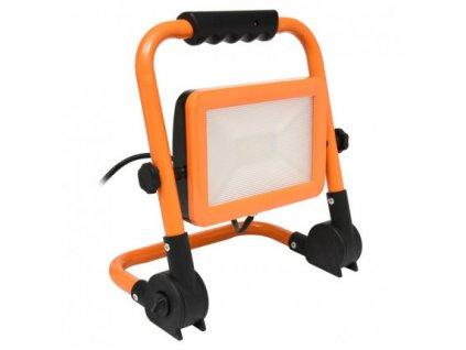 Ecolite LED reflektor s podstavcem, 50W, 4000K, 3500lm, IP44, oranžová