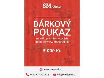 SMnářadí Dárkový poukaz 5 000 Kč