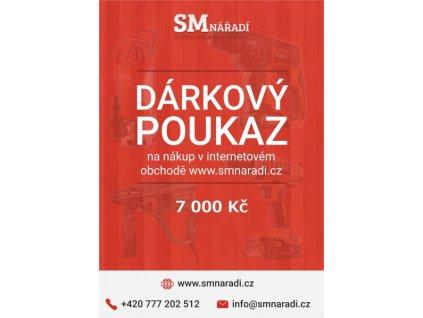 SMnářadí Dárkový poukaz 7 000 Kč
