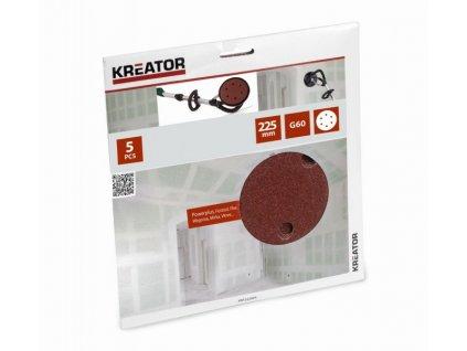 Kreator KRT232004 Brusný kotouč na sádrokarton 225 mm G60, 5ks