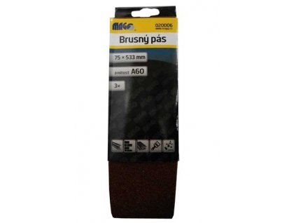 Magg Brusný pás 75x533mm A60 - 3ks