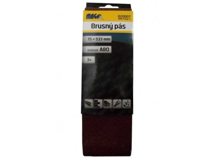 Magg Brusný pás 75x533mm A80 - 3ks