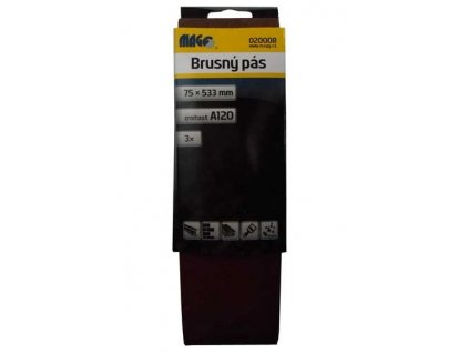 Magg Brusný pás 75x533mm A120 - 3ks