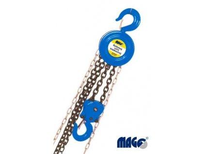 Řetězový kladkostroj ruční, zdvih 3m nosnost 2t