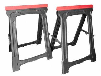 Magg 120261 Plastová pracovní koza 570x500x780mm - 2ks, nosnost 227,5kg