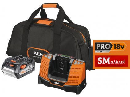 AEG L1840BL Set 1x akumulátor 4,0Ah/18V a nabíječky BL1218, taška