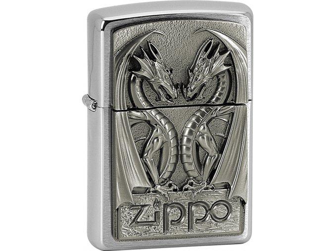 Zapalovač Zippo 21661 Twins Dragon Heart Emblem