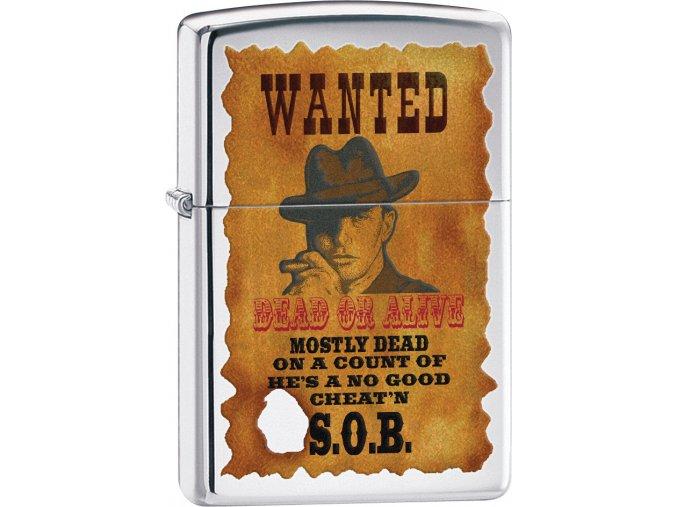 Zapalovač Zippo 22862 Wanted Poster