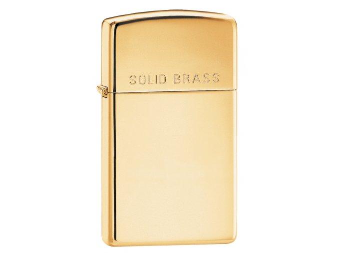 Zapalovač Zippo 24067 Solid Brass Slim