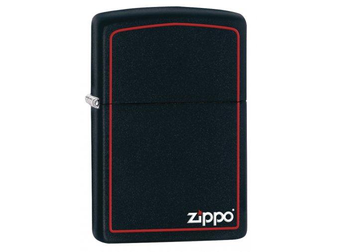 Zapalovač Zippo 26117 Black Matte with Zippo & Border