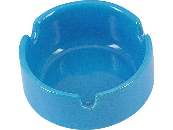 12738 Keramický popelník modrý 7cm