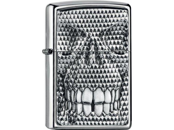 Zapalovač Zippo 22035 Carbon Skull