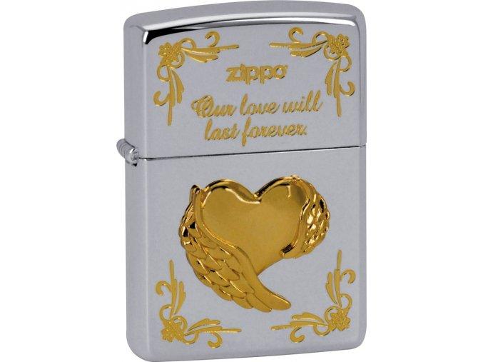 Zapalovač Zippo 28194 Wing Heart Type