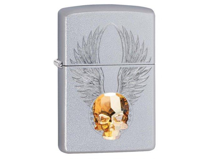 Zapalovač Zippo 20443 Gold Skull Design