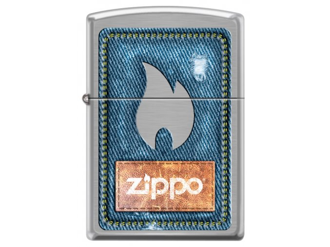 Zapalovač Zippo 21930 Denim Zippo and Flame