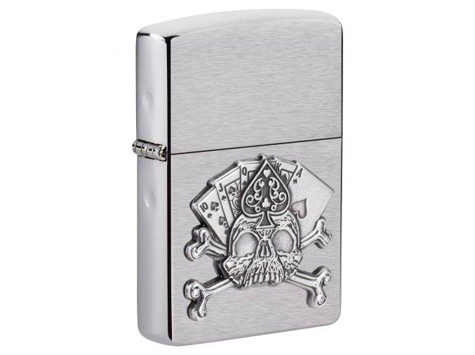 Zapalovač Zippo 21937 Card Skull Emblem