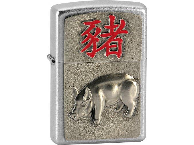 Zapalovač Zippo 20371 Year of the Pig Emblem