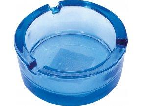 12876 Skleněný popelník 8,5cm modrý