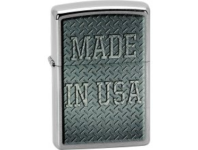 Zapalovač Zippo 21717 Made in USA Diamond Plate