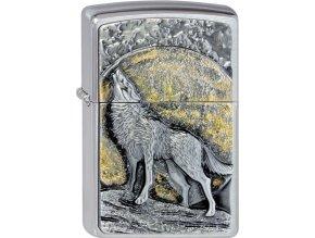 Zapalovač Zippo 21803 Wolf at Moonlight