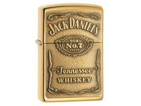 Zapalovač Zippo 24146 Jack Daniel's® Label - Brass Emblem