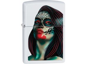 Zapalovač Zippo 26010 Day of the Dead Lady Tattoo