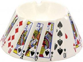 12068 Keramický popelník Poker 56mm