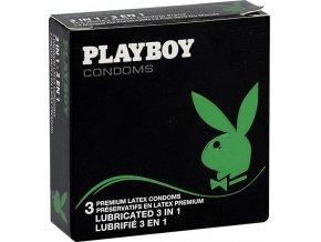 Kondomy Playboy 3in1