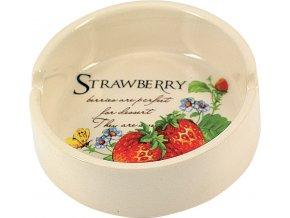 12756 Keramický popelník Strawberry 95mm