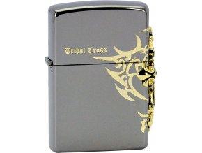 Zapalovač Zippo 28158 Tribal Cross Emblem