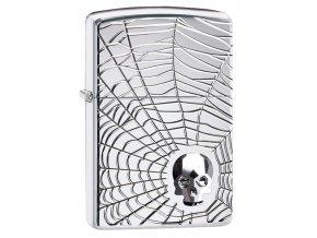 Zapalovač Zippo 22070 Spider Web Skull Design