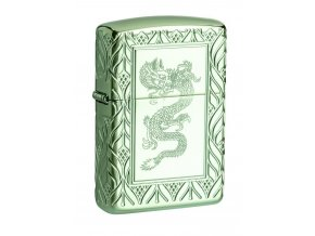 Zapalovač Zippo 26885 High Polish Green Elegant Dragon