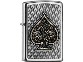 Zippo zapalovač 25541 Spades Emblem 3D