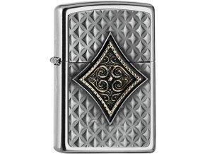 Zippo zapalovač 25543 Diamond Emblem 3D