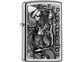 Zippo zapalovač 25556 Aquarius Zodiac Emblem