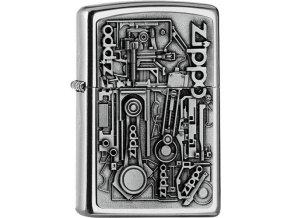 Zippo zapalovač 25557 Motor Parts Emblem 3D
