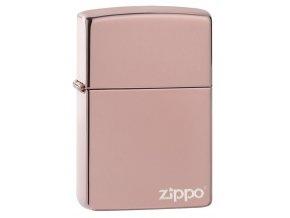 Zippo 26908 High Polish Rose Gold Zippo Logo