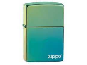 Zippo 26914 High Polish Teal Zippo Logo
