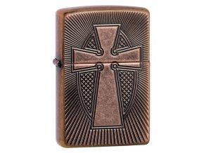 Zippo 27163 Deep Carve Cross Design