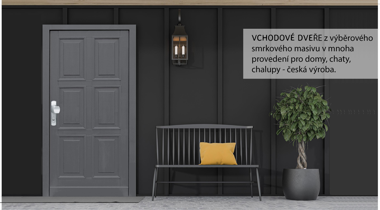 Proč se rozhodnout pro vchodové dřevěné dveře