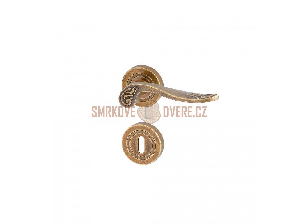 AGA00067 8591912080034 ACT Dverni kovani Nostalgie Koburg R BB patina bronz
