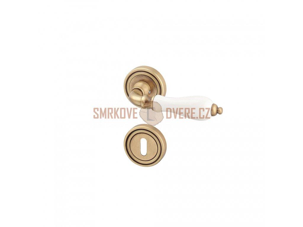 AGL01304 8591912054738 ACT Dverni kovani Nostalgie Barok R BB bronz