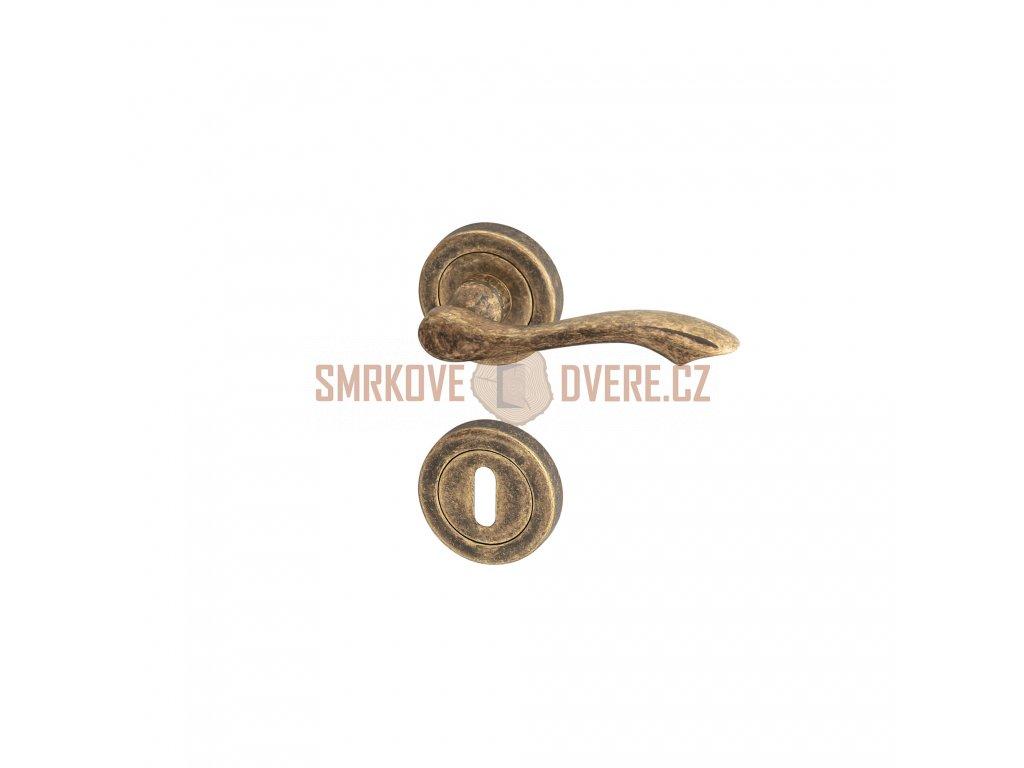 AGL00710 8591912026339 ACT Dverni kovani Nostalgie Rustik R BB bronz