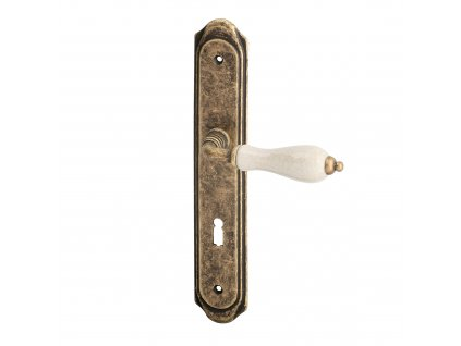 ACT dveřní klika ANTIK OV (patina bronz/porcelán)