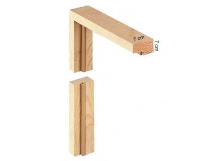 Dřevěná rámová zárubeň 7 7