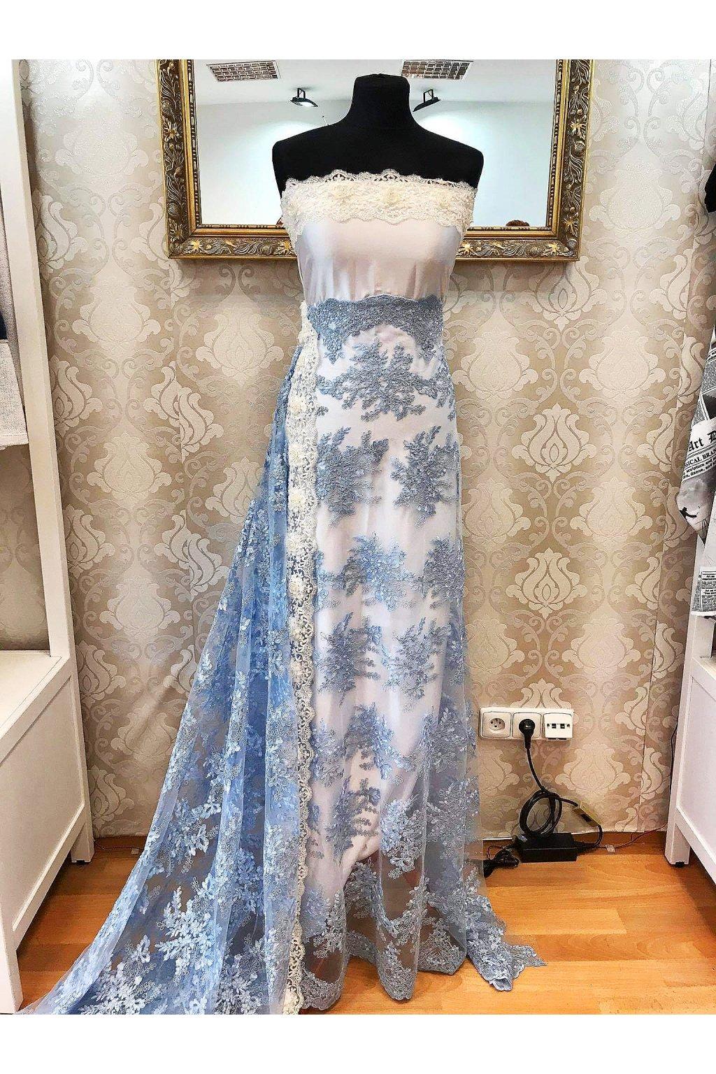 Krajka Flora - blue