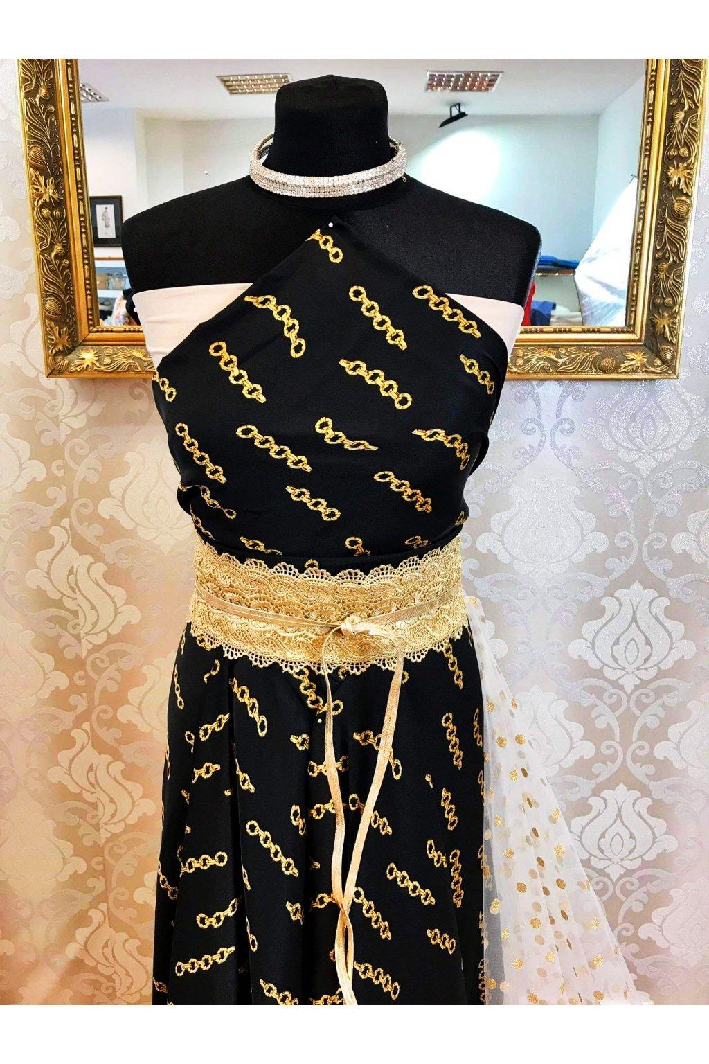 Šatovka black-gold